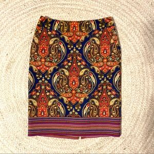 Merona Paisley Pencil Skirt